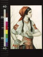Girl in Slavic peasant costume