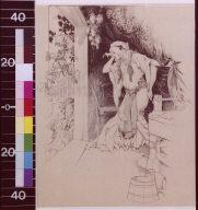 Gerda finds the mermaid's gift upon the door-stone