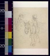 Bearded man on horseback