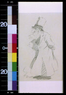 Bearded man in top hat and overcoat