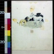 Lion and horse
