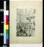 German soliders machine gunning New York crowds
