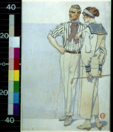 Man and woman in sport clothes