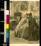 Two women sitting side by side