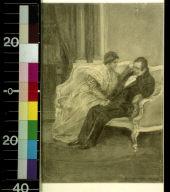Man and woman on sofa