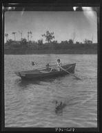 Lewisohn, Walter, Master, in a rowboat