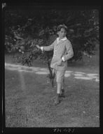 Lewisohn, Walter, Master, standing outdoors