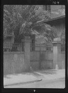 Gauche House gate, 704 Esplanade Ave., New Orleans