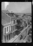 View of a street and roofs, New Orleans
