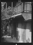 Courtyard and residential service wing (possibly Hermann-Grima House, 820 St. Louis Street), New Orleans