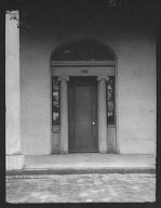 Door of an unidentified building, New Orleans or Charleston, South Carolina