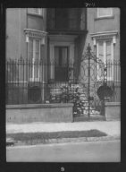 Gate and doorway of a multi-story house, New Orleans or Charleston, South Carolina