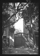 Gate between two buildings, New Orleans, or Charleston, South Carolina