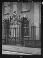 Unidentified building behind a fence, New Orleans or Charleston, South Carolina