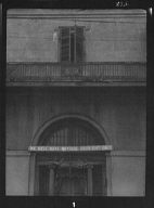 Entrance to Manheim's antique store, 401 Royal Street, New Orleans