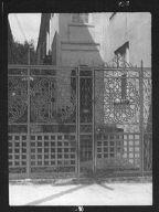 Wrought iron gate at 27 Meeting Street, Charleston, South Carolina