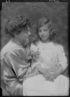 Burden, J.A., Mrs., and child Florence, portrait photograph