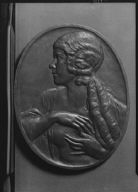 Churchill, Marguerite, Miss, portrait relief