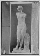 Copy photograph of a classical female nude sculpture