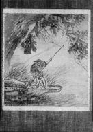 Screen drawing that belonged to Arnold Genthe