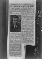 Clipping of an article on Arnold Genthe from Il giornale d'Italia