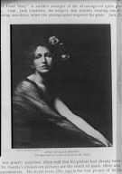 Clipping from an article on photography, including a photograph by Arnold Genthe entitled Study of black drapery