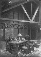 Interior of Arnold Genthe's bungalow in Carmel, California