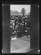 Detail of Pontalba balcony, New Orleans