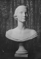Portrait bust of a woman by Mr. Wheeler Williams