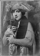 Cowl, Jane, Miss, with dog, portrait photograph