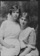 Skinner, Cornelia Otis, Miss, and friend, portrait photograph
