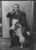 Spirescu, Steraskon, Mr., with dog, portrait photograph