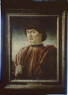 Photograph of portrait of a man by Andrea del Castagno
