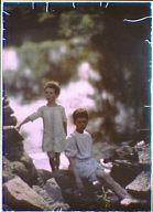 Richard and Morley Kennerley outside on rocks
