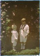 Untermeyer children standing in a garden