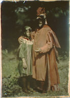 Herbert Adams and Arvia MacKaye as Cardinal Bird and Hummingbird, characters from Percy MacKaye's Sanctuary: a bird masque