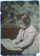 Anne Waldron reading a book