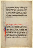 Illuminated leaf from a missal