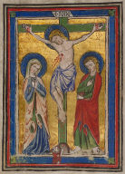 Crucifixion scene from Dominican Missal