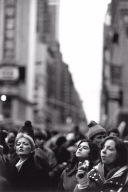 Woman Watching Macy's Thanksgiving Day Parade, New York City