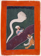 The Infant Krishna Carried Across the Jumna River