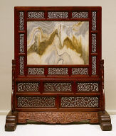 Standing Screen with Marble Panel
