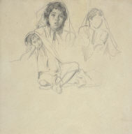 Three Studies of a Moroccan Girl