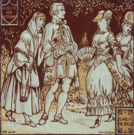 Jeanie and the Queen, narrative tile based on Sir Walter Scott's 'The Heart of Midlothian'