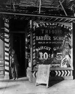 Tri-Boro Barber School, 264 Bowery, Manhattan