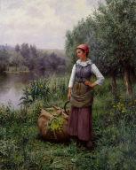 Girl by a Stream, Flanders