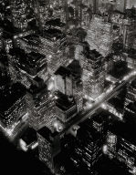 New York, West side Looking North from Upper 30s (night view)