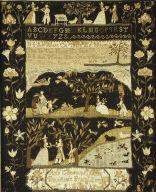 Sampler, embroidered