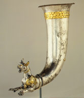 Rhyton terminating in the forepart of a panther