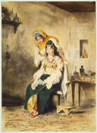 Saada, the Wife of Abraham Benchimol, and Préciada, One of Their Daughters